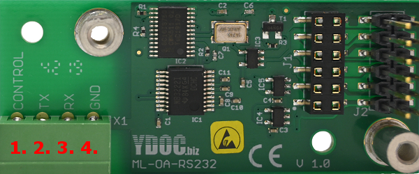 RS232 Auxiliary board