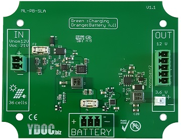 12V battery charger for solar powered data loggers